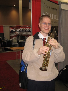 Neil playing a Selmer Mark VI Sopranino Sax, February 2014