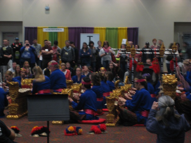 Gamelan performance featuring TX State's Gordon Jones at the 2015 convention
